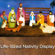 lighted outdoor nativity outdoor lighted christmas decorations 4 molded