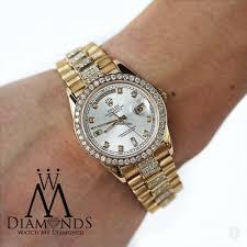 rolex bracelet diamonds images Rolex men 39 s used rolex president 18k gold day date 18038