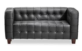 Loveseat With Ottoman Chairs Zuo Modern Button Loveseat Raw Leather Club Chair Mid