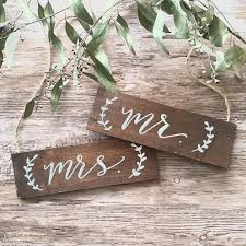 mr and mrs wedding signs mr mrs wedding signs wedding chair signs wooden hanging