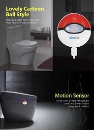 toilet light brelong motion sensor led toilet light cartoon ball design 7 07