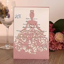 bridal cards ponatia 25pcs laser cut wedding invitations card