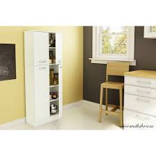 Kitchen Pantry Cabinet Furniture South Shore Smart Basics 4 Door Storage Pantry Multiple Colors