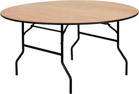 Round Restaurant Tables 60 U0027 U0027 Round Wood Folding Banquet Table With Clear Coated Finished