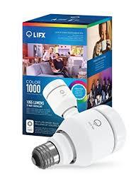 alexa light bulbs no hub lifx colour 1000 wi fi smart led light bulb works with alexa multi