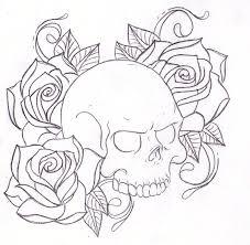 and skull drawing sketch design cosas