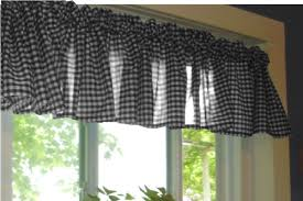 Black Gingham Curtains Black Gingham Kitchen Caf礬 Curtain Unlined Or With White Or