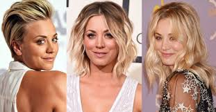 growing hair from pixie style to long style kaley cuoco hair evolution see how she grew out her pixie glamour