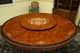 Inch Round Wood Dining Table Creditrestoreus - 60 inch round dining table with lazy susan