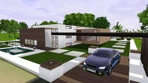 the sims 3 modern minimalist house paradise hd youtube