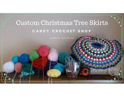 crochet tree skirt etsy