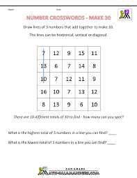 4th Grade Math Worksheets With Answers Free Math Puzzles Addition And Subtraction