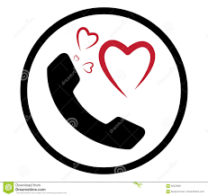 heart and phone icon stock illustration image 82258091