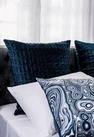 Navy Velvet Cushion Greg Natale U0027quilted Velvet U0027 Navy Euro Pillow Case James Said