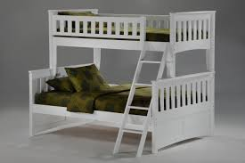 White Wooden Bunk Bed White Wooden Bunk Bed With Blue Bedding Bed White Wooden