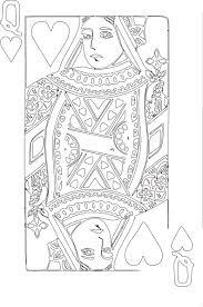 queen hearts coloring clip art png svg clipart