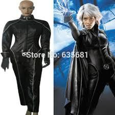 Men Storm Halloween Costume Men Storm Cosplay Costume Black Leather Clothing