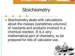 stoichiometry the meaning of the word the word stoichiometry