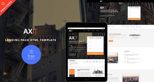 axit u2013 landing page html template free html5 templates