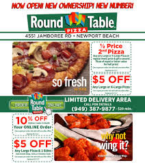 Round Table Pizza Coupons Codes Round Table Pizza Irvine