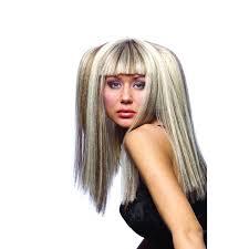 white hair with black lowlights blonde hair with black lowlights hairstyle for women man