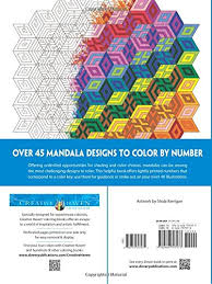 creative haven mandalas color number coloring book