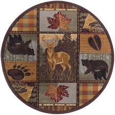 Nature Area Rugs Tayse Rugs Nature Multi Color 5 Ft 3 In Round Area Rug Ntr6568