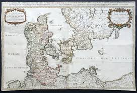 Large Vintage World Map by 1674 Jaillot U0026 Sanson Very Large Antique Map Of Denmark U0026 Southern