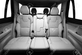 si e voiture sièges passagers arrière en voiture de luxe moderne vue frontale