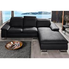 revetement canapé canapé d angle en cuir et revêtement synthétique appuis tête