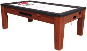 large multi game table berner 6 in 1 table in cherry pool air ping pong poker game world