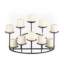 Candles For Fireplace Decor by Amazon Com Southern Enterprises 10 Candle Candelabra Matte Black