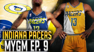 jersey design indiana pacers nba2k16 pacers mygm 9 team relocation new jerseys court design