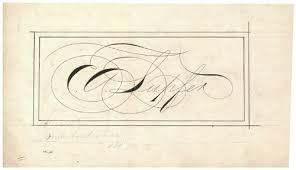 e a lupfer original calligraphy zanerian college american