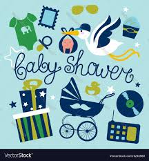 baby shower poster baby shower poster design for boy royalty free vector image