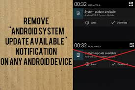 android system update how to remove or disable android system update available