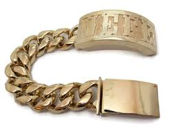cuban gold bracelet images 14k solid yellow gold bracelet cuban link twins jewelry store jpg