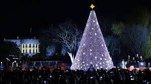 christmas tree shaped lights first family lights national christmas tree nbc chicago