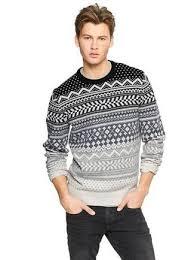 s grey fair isle crew neck sweater grey crew neck t shirt