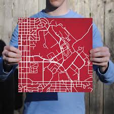 Utah Campus Map by University Of Utah Campus Map Art City Prints