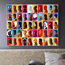 Cheap Framed Wall Art by Online Get Cheap Superhero Canvas Art Aliexpress Com Alibaba Group