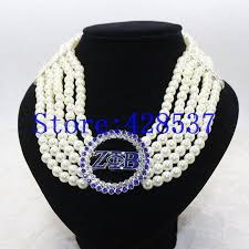 multi layered black necklace images Zeta phi beta royal blue white crystal pearl multilayered choker jpg