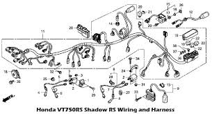 2010 honda vt750rs shadow rs wiring and harness