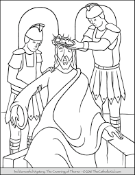 coloring page of jesus sorrowful mysteries coloring pages the catholic kid