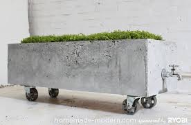 homemade modern ep16 concrete planter