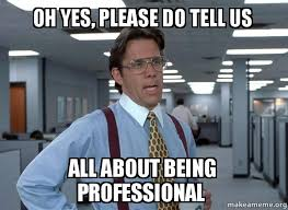 Yes Please Meme - oh yes please do tell us all about being professional that would