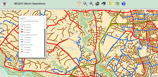 Md County Map Montgomery County Md Snow Plow Map Adriftskateshop