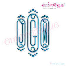 3 initial monogram fonts by year created 2016 cameo decorative initial monogram set