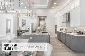 two tone kitchen cabinets and island kitchen trends for 2018 two toned cabinets cabinets