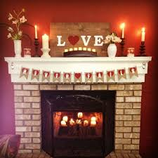 Valentine S Day Decoration Ideas At Home by Dining Room Valentine U0027s Day Fireplace Decoration With Candles